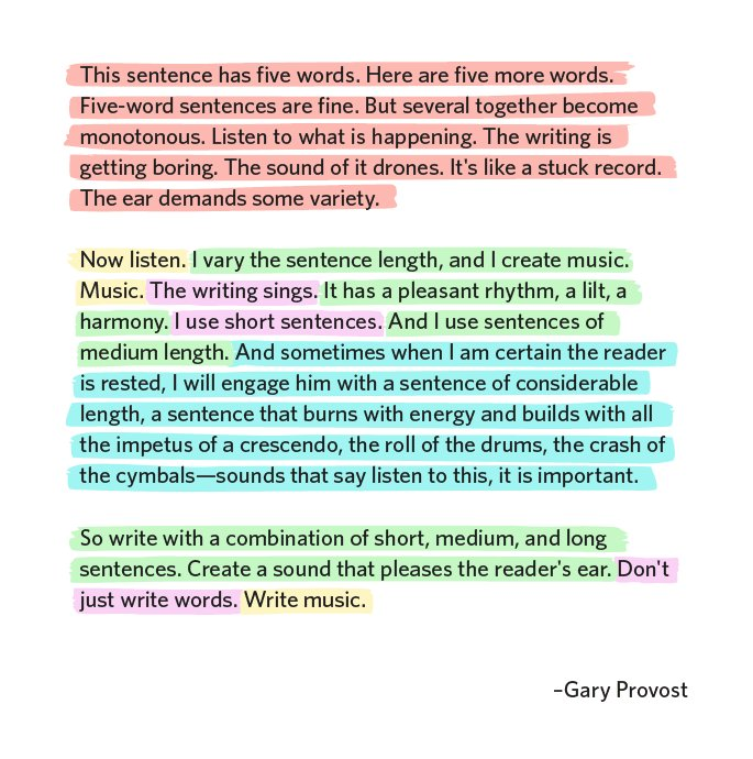Aprender a escribir con ritmo