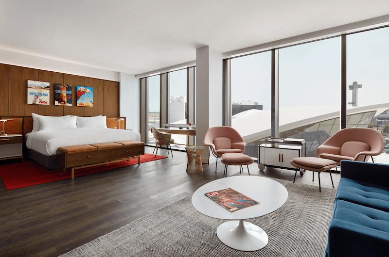 La habitación en honor a Eero Saarinen