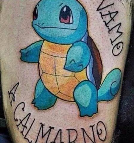 Vamo a calmarno, tatuaje