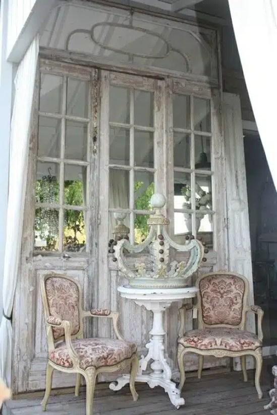 Mille modi creativi per riutilizzare vecchie porte o - Vecchie porte in legno ...