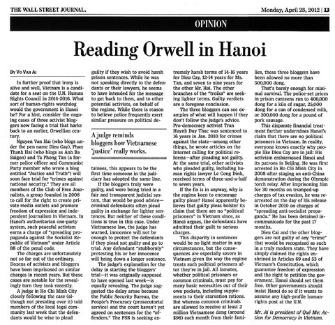 Reading Orwell in Hanoi by Vo Van Ai