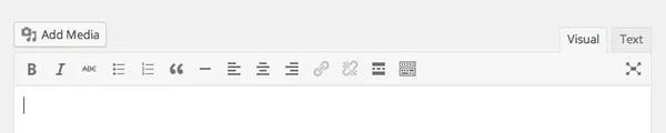 controles por defecto editor wordpress