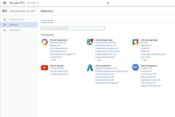 biblioteca de APIs