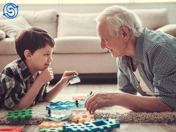 Planes de pensiones. Abuelo y nieto.
