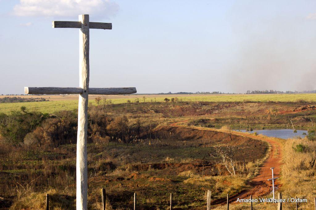 Vista de Marinakue, tierra estatal ubicada en la localidad de Curuguaty, departamento de Canindeyú. Setiembre de 2013