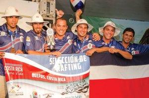 Costa Rica Rafting team