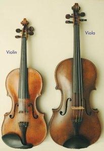 Viola and Violin