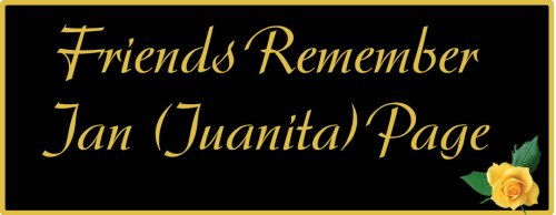 Friends remember Jan (Juanita) Page