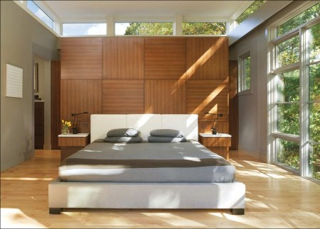 Clean and uncluttered bedroom