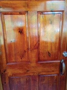 Stained gmelina door