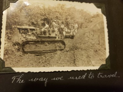 Old bull dozer photo