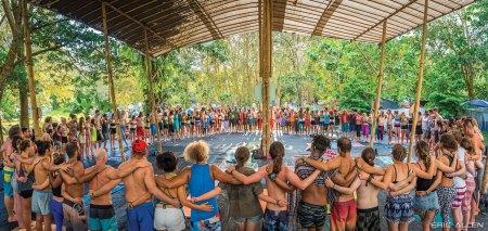 Envision fest yoga tent
