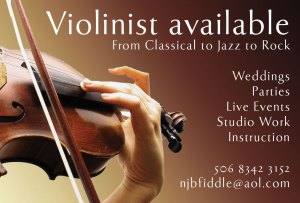 Violinist Available