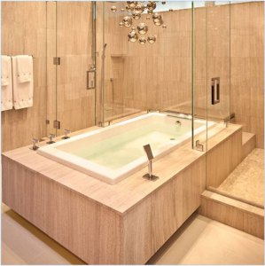 large bath and shower combination
