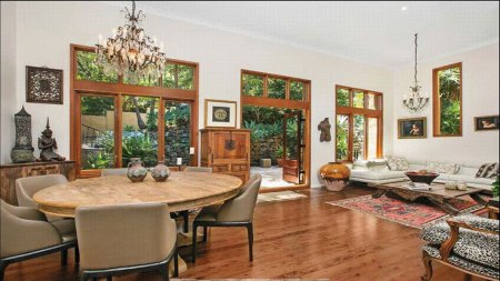Large living and dining room