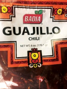 Package of guajillo peppers