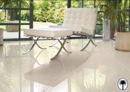 Chair on large tilef loor