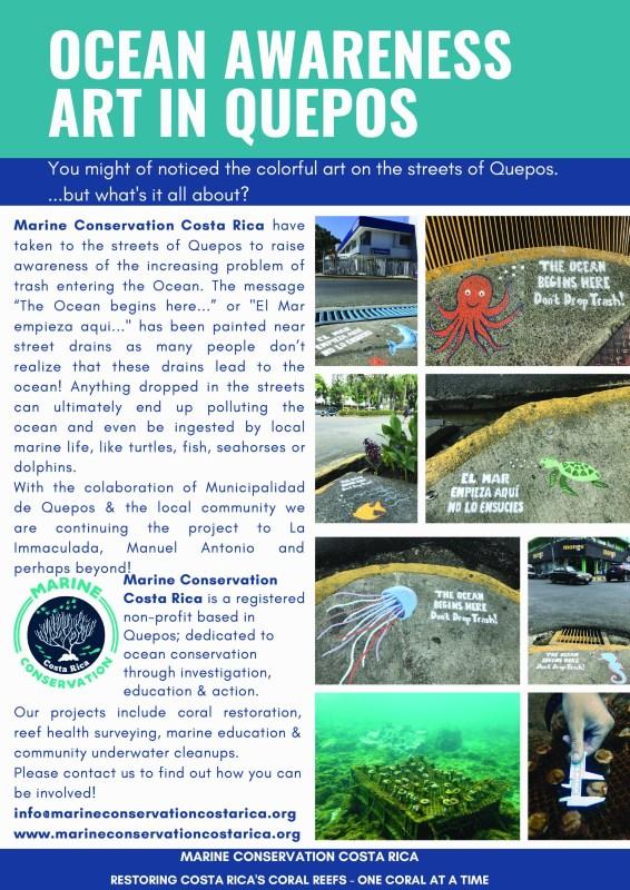 Ocean awareness Art in Quepos