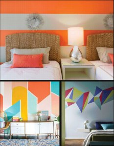 3 painted rooms