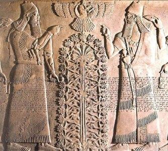 Ancient tablet depicting hemp