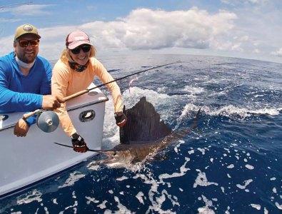 Woman with a sailfish
