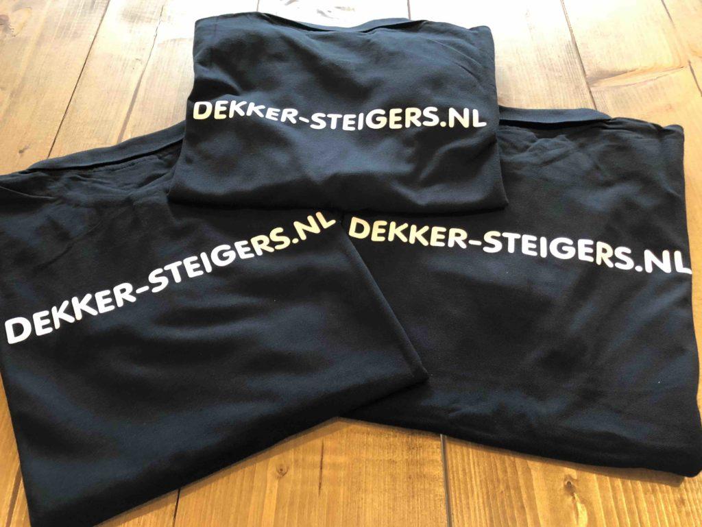 Rugbedrukking polo's Dekker Steigers