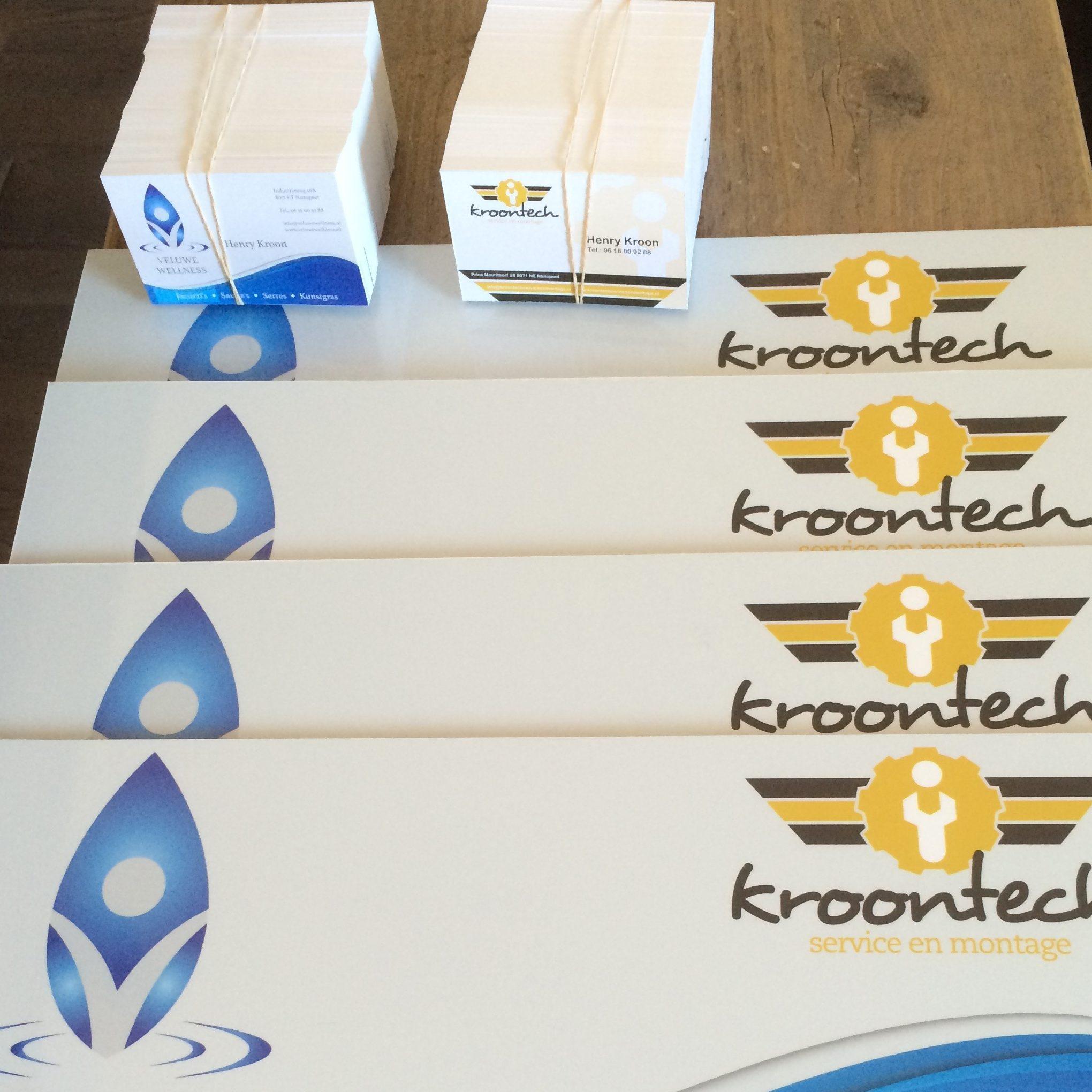 Huisstijl voor Kroontech. Enveloppen en visitekaartjes