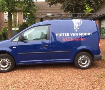 Autobelettering Pieter van Moort