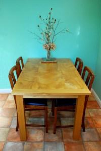 Bespoke Handmade Kitchen Table in Reclaimed Elm With Oak ...