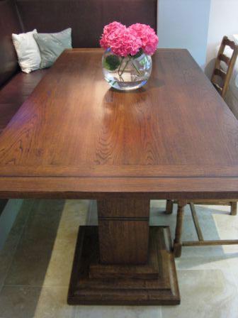 Handmade Oak Extending Kitchen Table