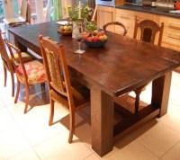 Bespoke Handmade Oak Refectory Kitchen Table   Quercus ...