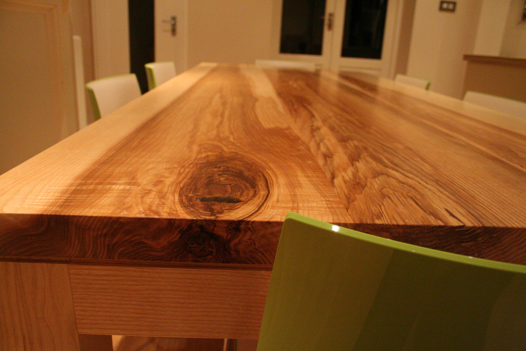 Handmade Dining Table - Flame Grain