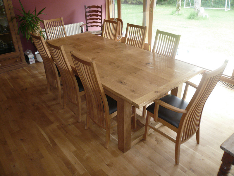 Bespoke Pippy Oak Refectory Table & Chair