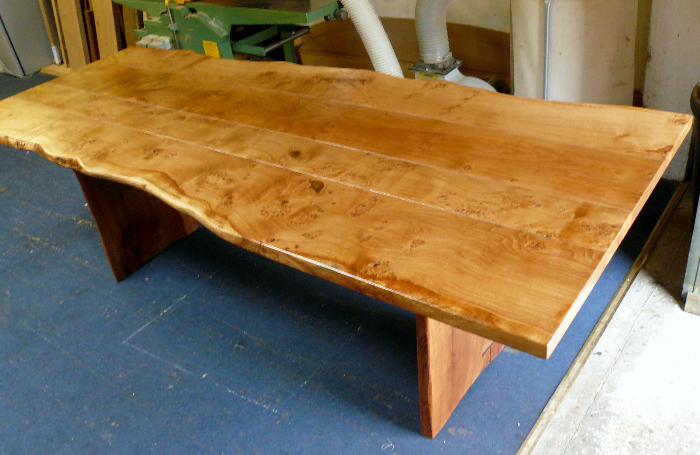 Waney Edge Handmade Oak Table For Sale