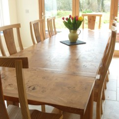 Large Round Oak Dining Table 8 Chairs Contemporary Leather High Back Office Chair Black Pippy And Quercus Furniture