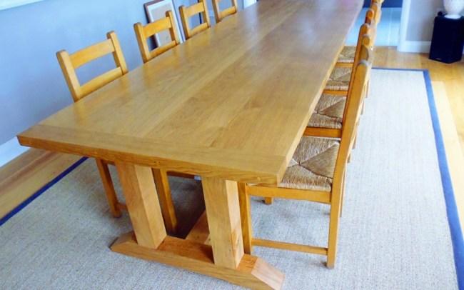 Large Bespoke Oak Dining Table