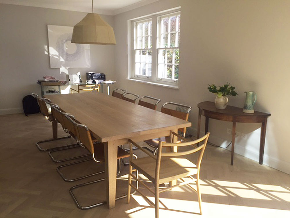 Contemporary Bespoke Handmade Dining Table