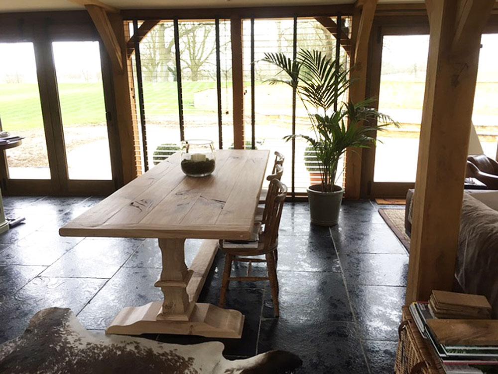 8 Seater Bespoke Handmade Oak Table
