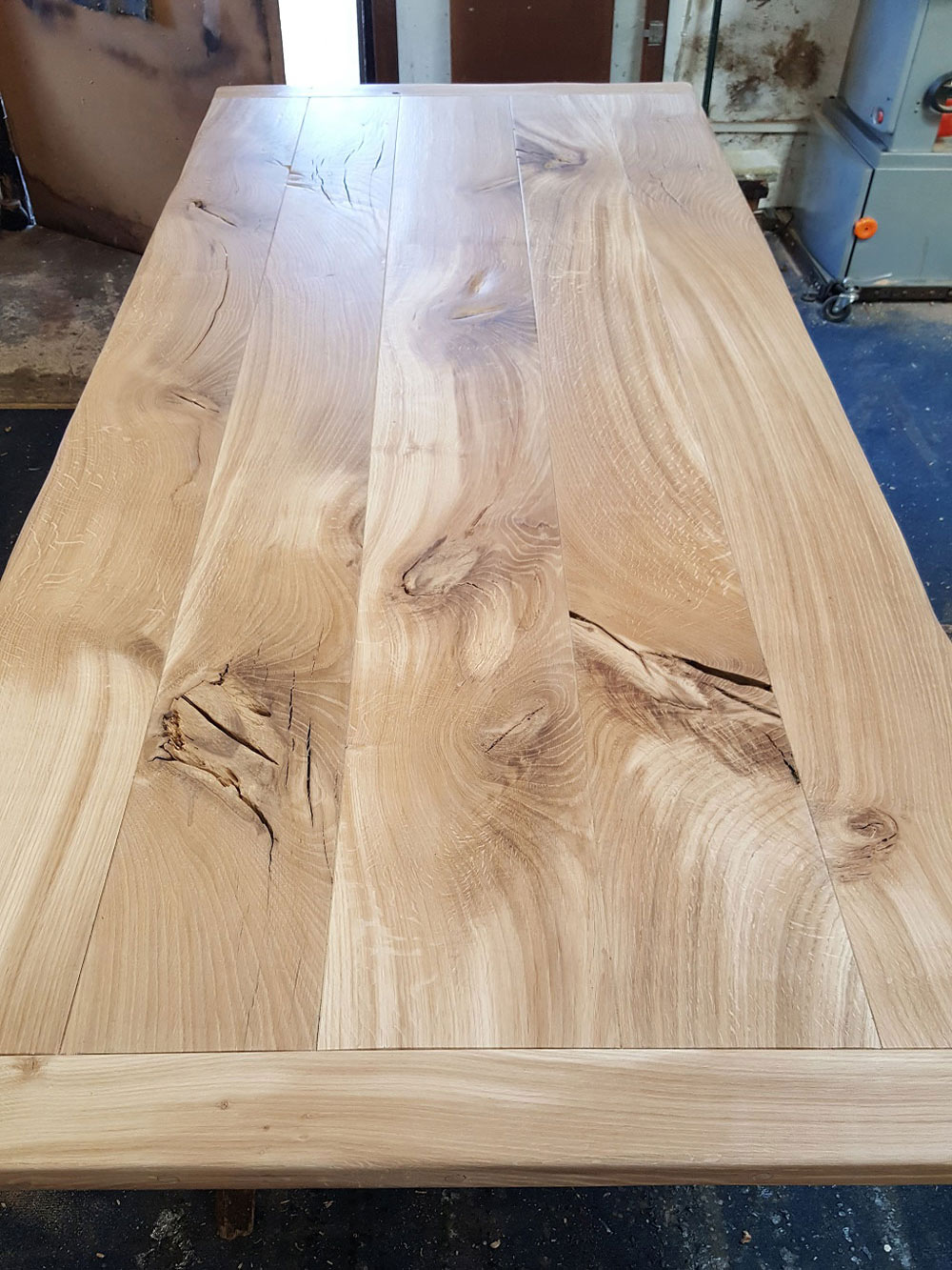 Large Bespoke Handmade Oak Table Top