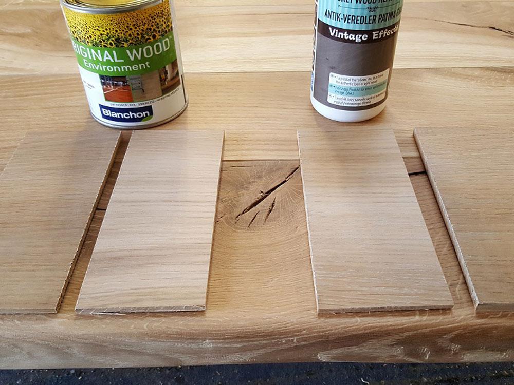 Handmade Oak Table Top Colour Samples