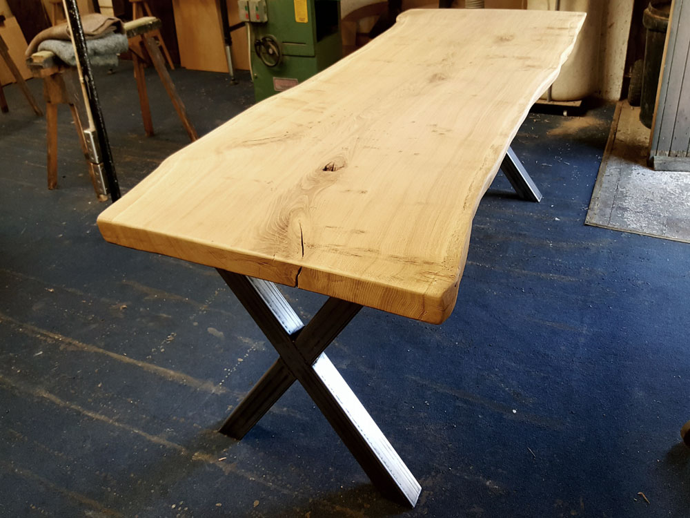 Single Slab Waney Edge Table Work in Progress
