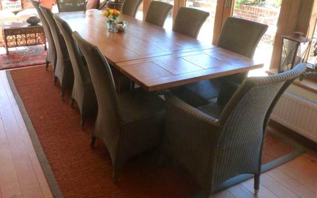 10 Seat Bespoke Extending Refectory Table