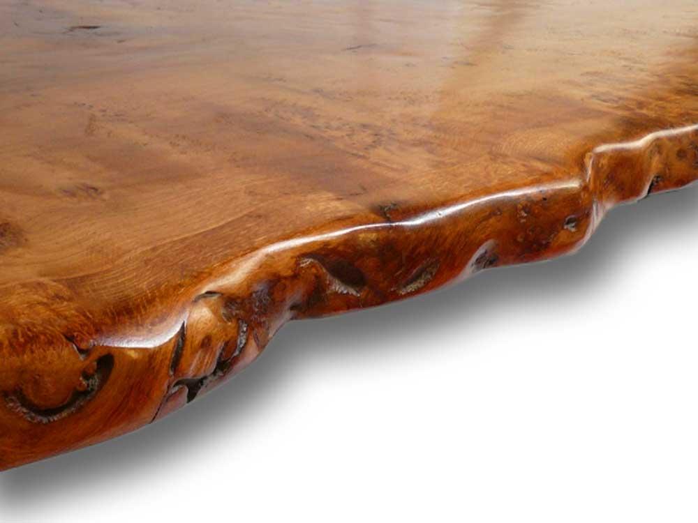 Live Waney Edge Slab Table Up Close