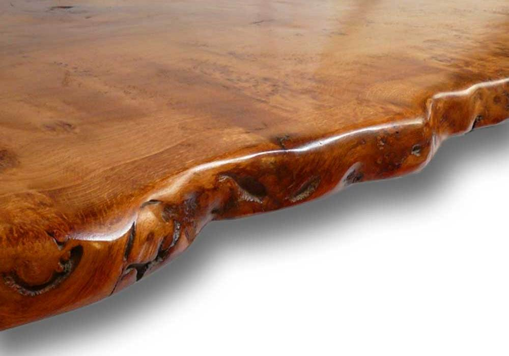 Live Waney Edge Slab Table Up Close