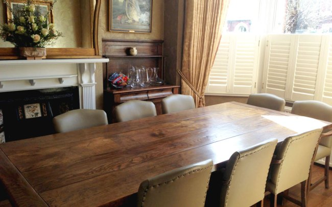 Antique Refectory Table Fully Restored & Widened