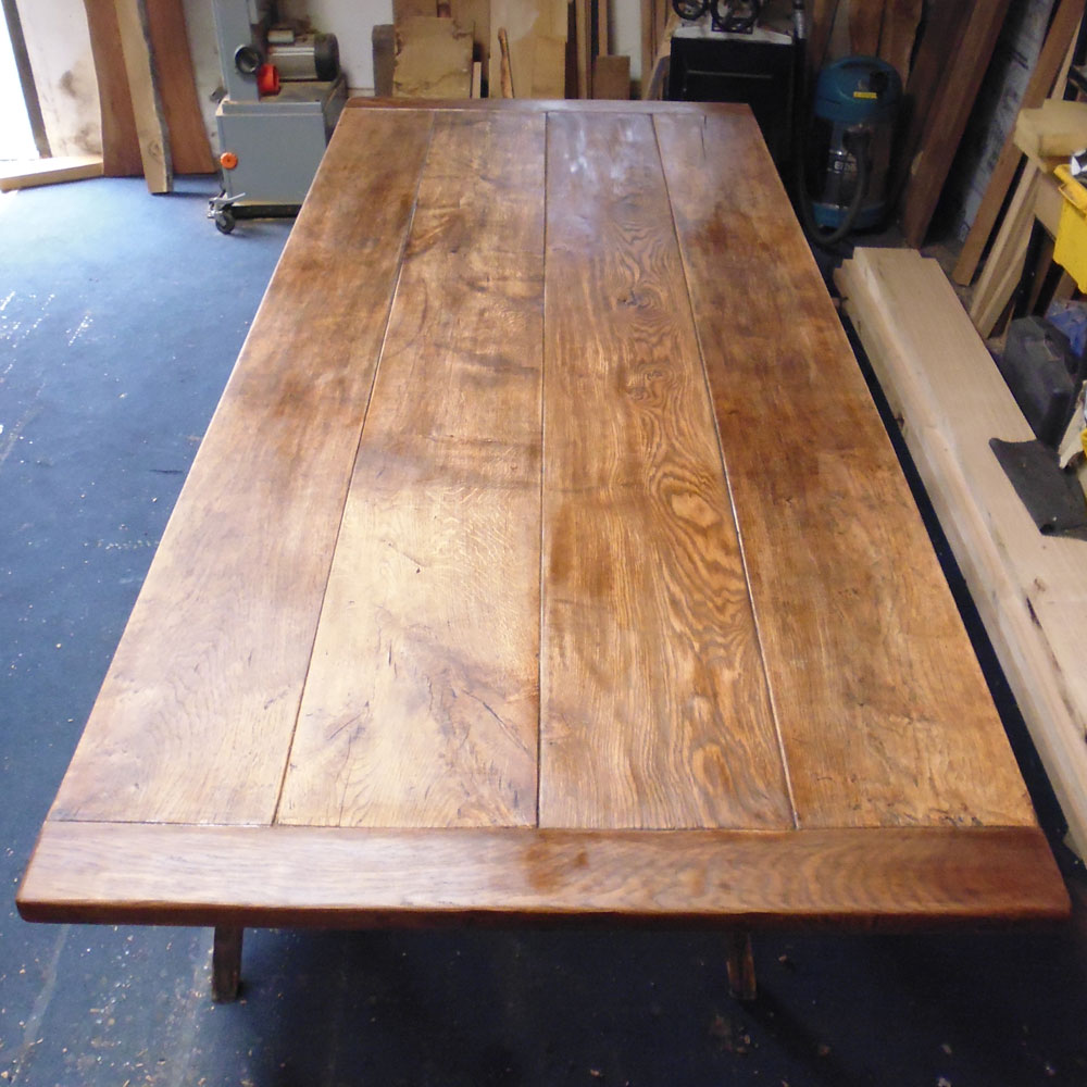 Restored Antique Refectory Table Top