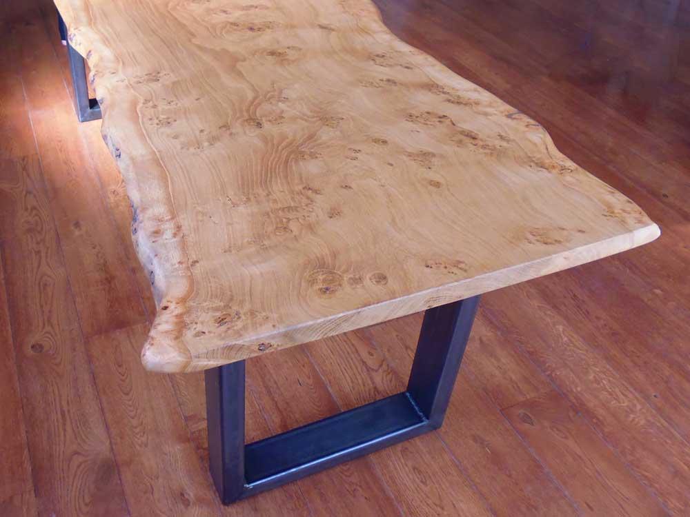 Handmade Waney Edge Slab Table Top in Pippy Oak
