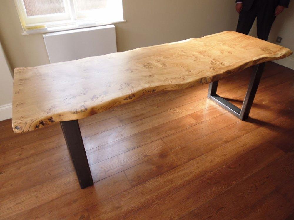 Waney Edge Handmade Table with Metal Legs