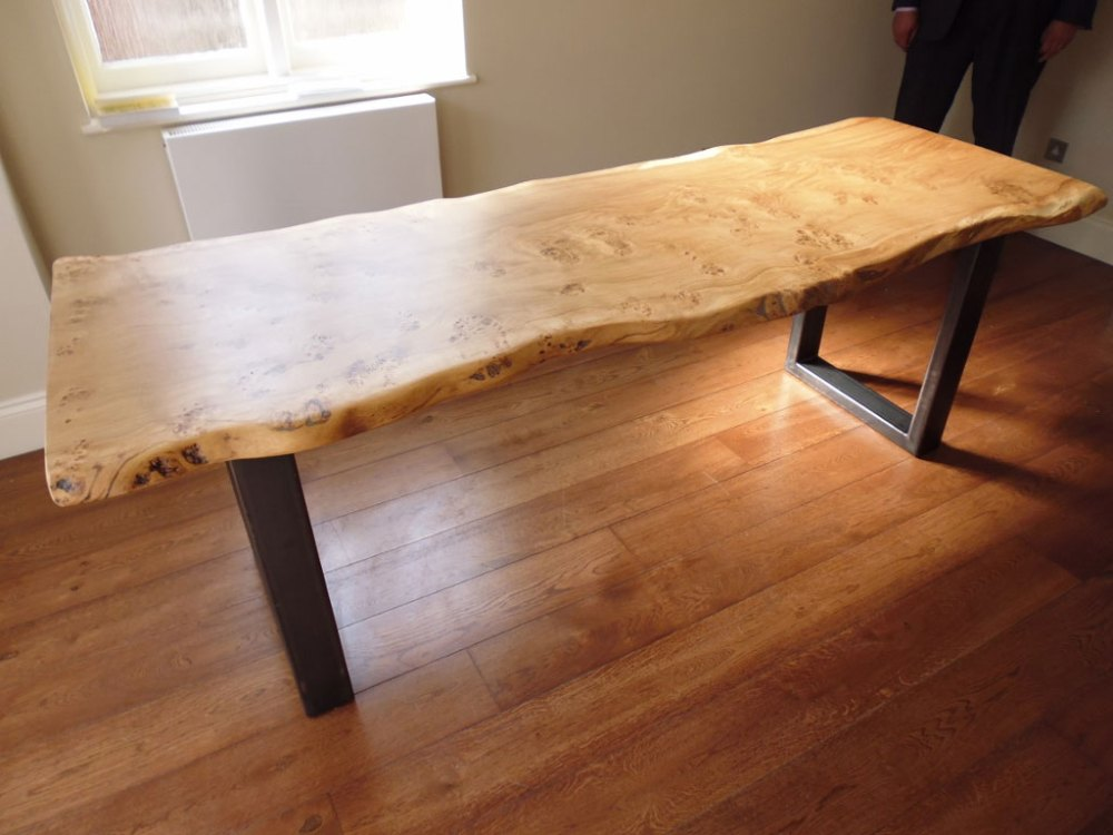 Waney Edge Handmade Table with Metal Legs
