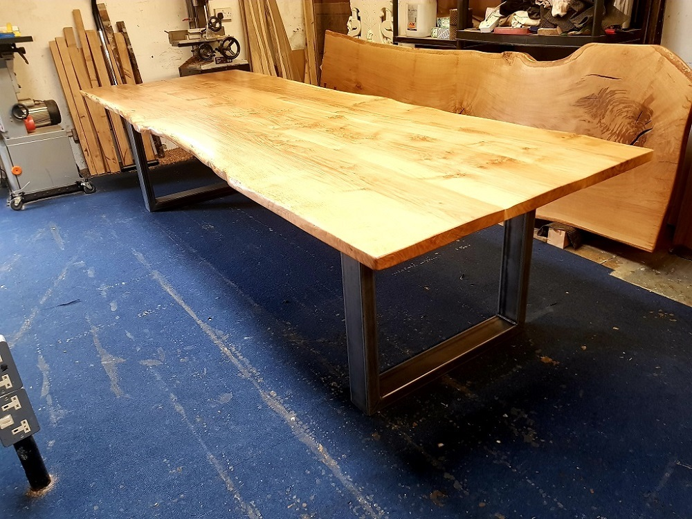 Waney edge dining table